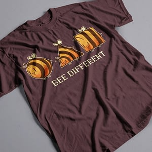 Animals & Nature Bee Different Adult's T-Shirt bee different