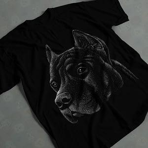 Animals & Nature Hand-Drawn Cane Corso Adult's T-Shirt cane corso