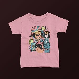 Animals & Nature Cute Dog Doodle Kid's T-Shirt dog