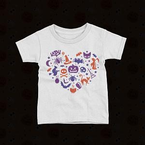 Halloween Kids Halloween Heart Kid's T-Shirt halloween