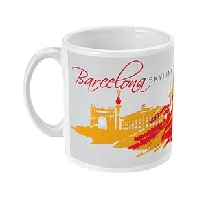Place Mugs Barcelona Abstract Skyline Mug barcelona