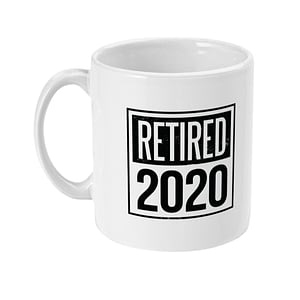 Profession Mugs Personalised Retirement Mug retired