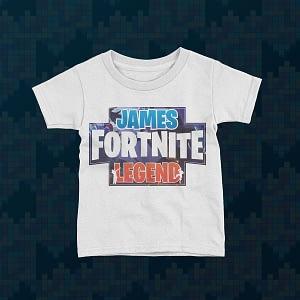Gaming Personalised Fortnite Legend Kid's T-Shirt fortnite