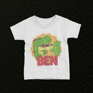 Personalised Personalised Kid's Birthday Dinosaur T-Shirt birthday