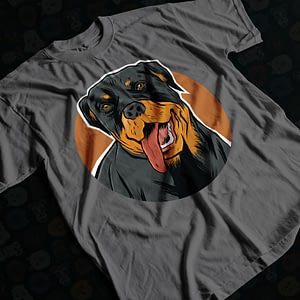 Animals & Nature Hand-Drawn Rottweiler Adult's T-Shirt dog