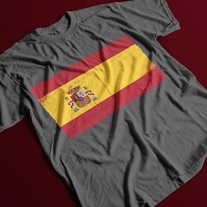 Misc Spain Flag Adult's T-Shirt hispanic