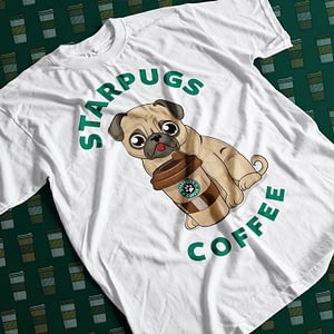 Animals & Nature Starpugs Coffee Adult's T-Shirt coffee