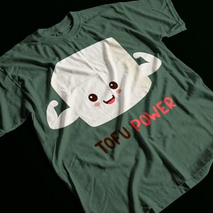 Food & Drink Tofu Power Vegan Adult's T-Shirt meat free