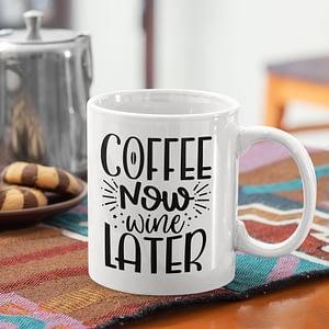 Food & Drink Mugs Coffee Now, Wine Later Mug caffeine