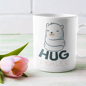 Animal Mugs Hug Dealer Mug bear. cuddle