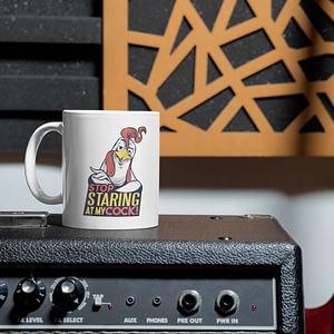Funny Mugs Stop Staring at My Cock Mug cock