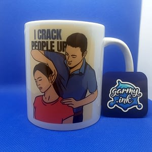 Profession Mugs Chiropractor Mug – I Crack People Up back