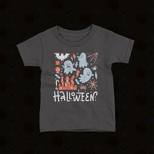 Halloween Kids Flying Ghost Spirit Halloween Kid's T-Shirt bats