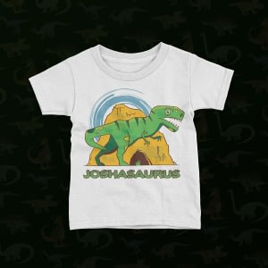 Personalised Personalised Name Dinosaur Kid's T-Shirt dinosaur