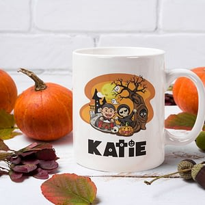Halloween Mugs Personalised Kid's Halloween Mug bats