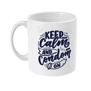 Funny Mugs Keep Calm and Condom On Mug #SexualHealthDay