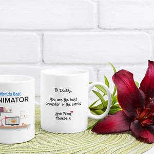 Personalised Personalised World's Best Animator Mug animator