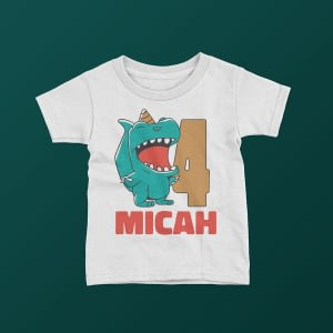 Personalised Personalised Dinosaur Birthday Name & Age T-Shirt birthday tshirt