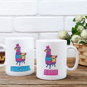 Animal Mugs Personalised Fortnite Llama Mug boys