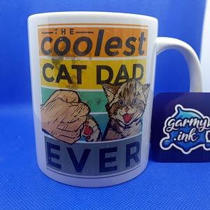 Animal Mugs The Coolest Cat Dad Ever Mug cat