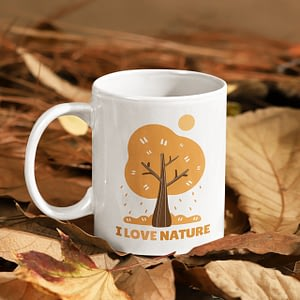 Misc Mugs I Love Nature Mug leaves