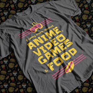 Food & Drink Anime, Video Games & Food Adult's T-Shirt anime