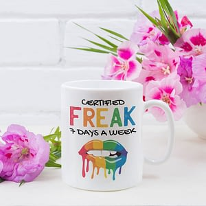 Funny Mugs Certified Freak, 7 Days a Week Mug cardi b