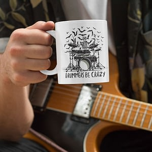 Hobbies Mugs Drummers Be Crazy Mug bats