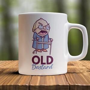 Birthday Mugs Old Bastard Mug bastard