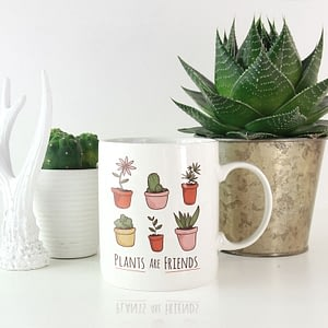 Hobbies Mugs Plants are Friends Mug house plants
