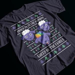Christmas Rainbow Sheep of the Family Adult's T-Shirt christmas