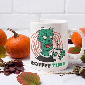 Funny Mugs Zombie Coffee Time Mug brains