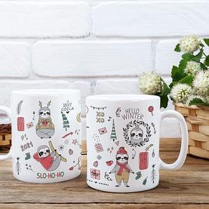 Animal Mugs Merry Slothmas Christmas Sloth Mug christmas