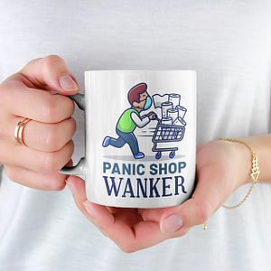Funny Mugs Panic Shop Wanker Mug cupcakes
