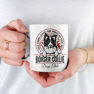 Animal Mugs Border Collie Mug Border Collie