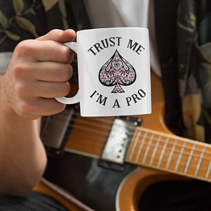 Hobbies Mugs Trust Me, I'm a Pro Poker Mug cards