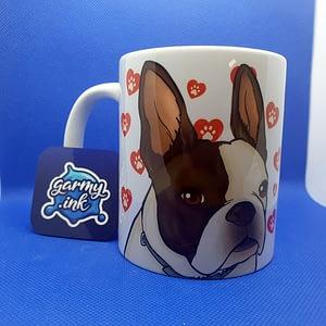 Animal Mugs Hand Drawn Personalised Dog Caricature Mug animals
