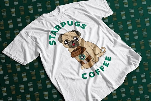 Animals & Nature Starpugs Coffee Adult's T-Shirt coffee