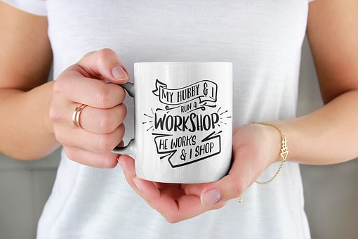 Family Mugs My Hubby & I Run a Workshop Mug couple
