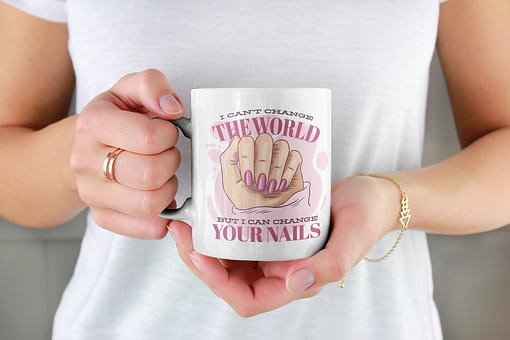 Profession Mugs I Can't Change the World but I Can Change Your Nails Mug nail technician