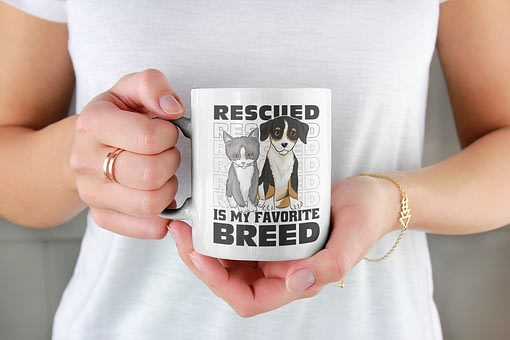 Animal Mugs Rescued Is My Favourite Breed Mug animal rescue