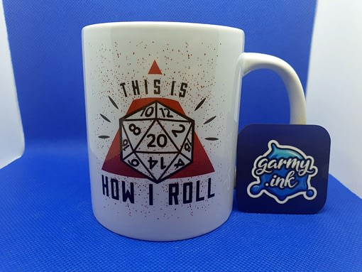 Misc Mugs This Is How I Roll DND Mug dnd