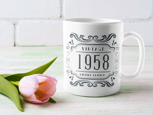 Personalised Personalised Vintage Year of Birth Mug birth