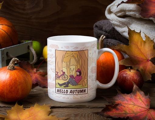 Misc Mugs Hello Autumn Mug autumn