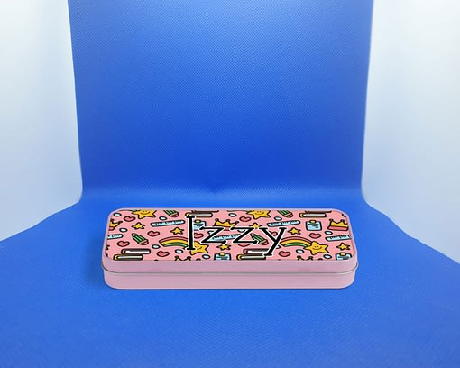 Stationery Personalised Pink Pencil Tin animals