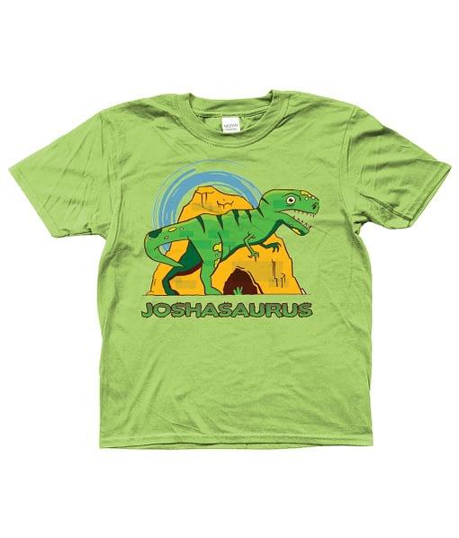 Personalised Personalised Name Dinosaur Kid's T-Shirt dinosaur