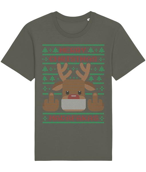 Christmas Merry Christmas Madafakas Reindeer T-Shirt christmas